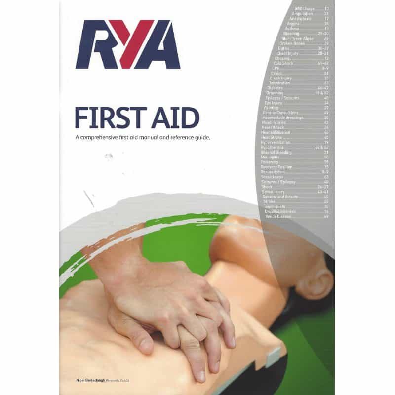 First aid manual included with course