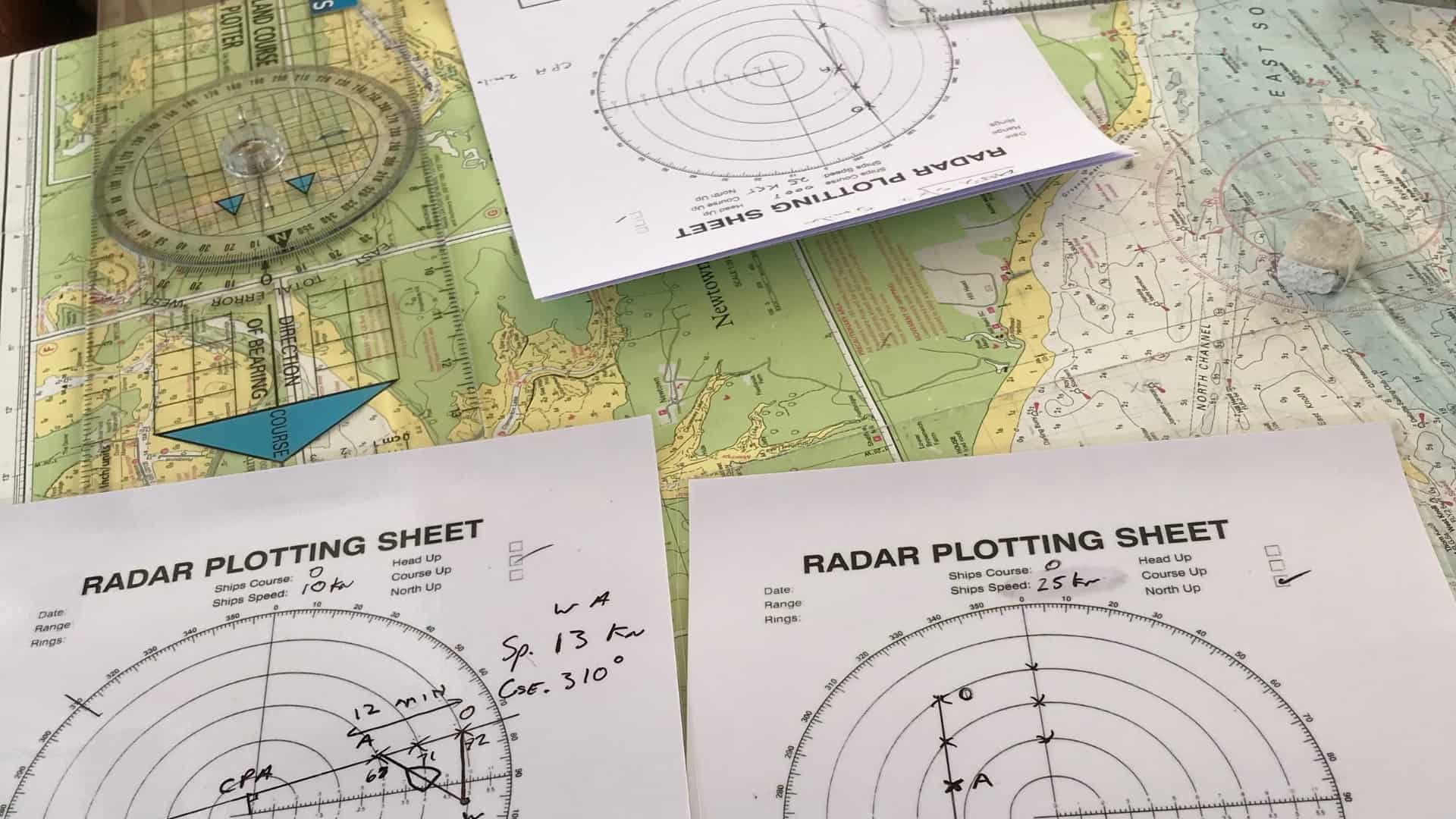 Yachtmaster theory chart and radar materials