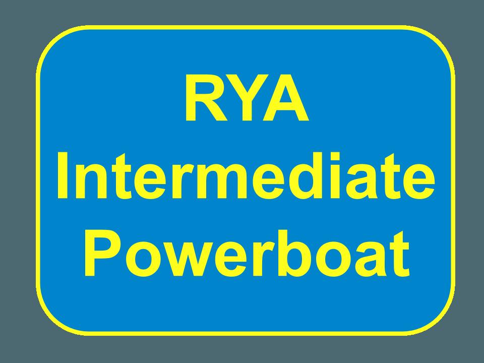 RYA Intermediate Powerboat