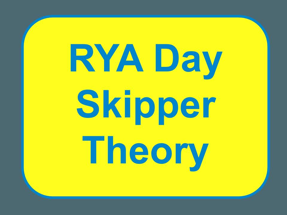 RYA Day Skipper